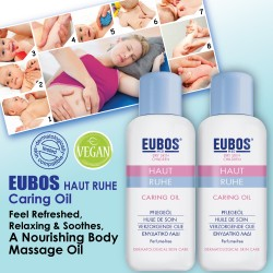EUBOS HAUT RUHE CARING OIL 100ml x (2 bottles)