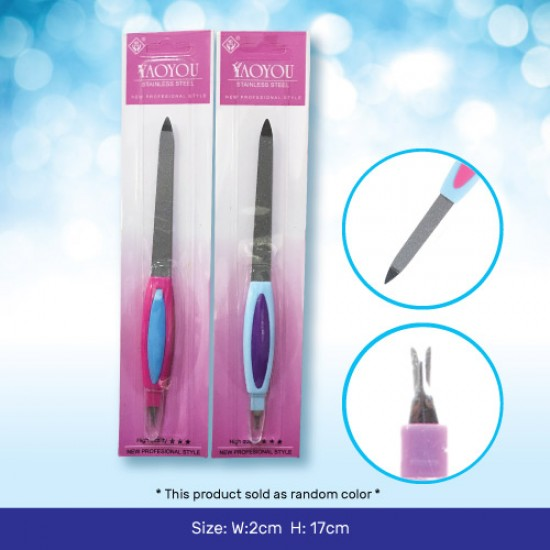 Stainless Steel Nail File for Manicure Pedicure