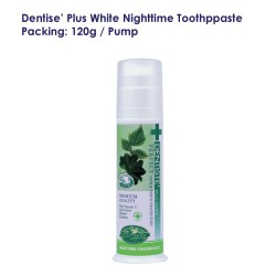 Dentise' Plus White Nighttime Toothpaste Pump_120G
