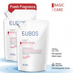 EUBOS LIQUID WASHING EMULSION RED REFILL BAG 400ml_PACK OF TWO