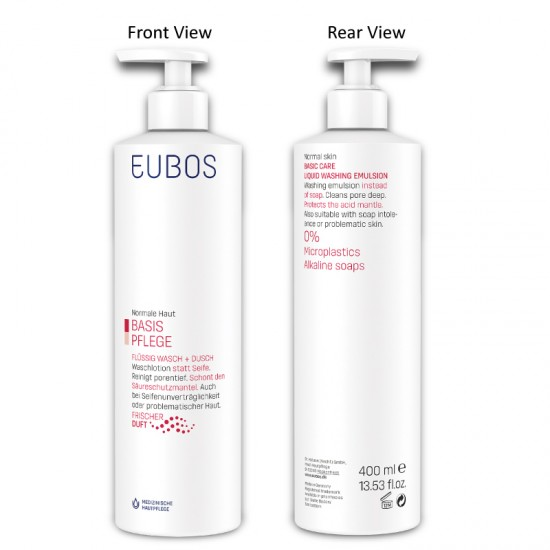 EUBOS LIQUID WASHING EMULSION Pump 400ml-RED