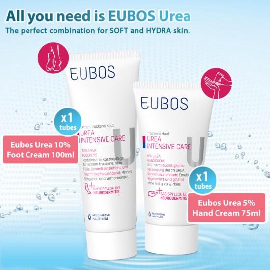 EUBOS UREA HAND 75ml + UREA FOOT CREAM 100ml