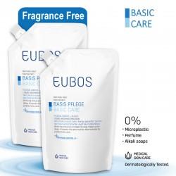 EUBOS LIQUID WASHING EMULSION BLUE REFILL BAG 400ML_PACK OF TWO