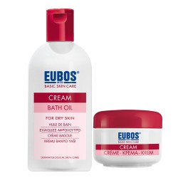 EUBOS CREAM BATH OIL 200ml + FACIAL CREAM JAR 50ml
