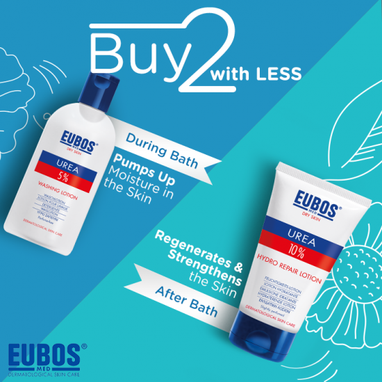 EUBOS UREA 5% WASHING LOTION + UREA 10% HYDRO REPAIR