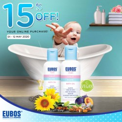 EUBOS Haut Ruhe Bath Oil 125ml Promo Pack 2 Bols