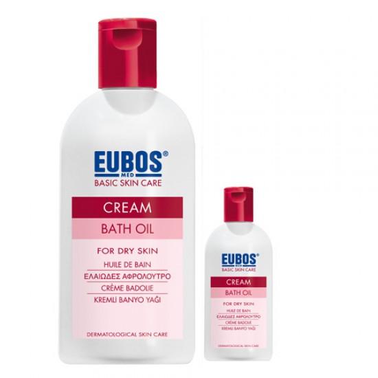 EUBOS CREAM BATH OIL 200ML + 30ML MINIATURE