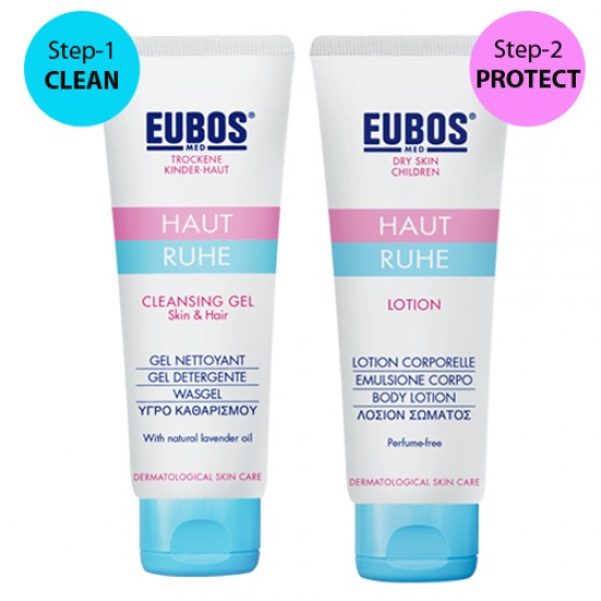 EUBOS Baby Cleansing Gel 125ml & Body Lotion 125ml (2 in 1 bundle)