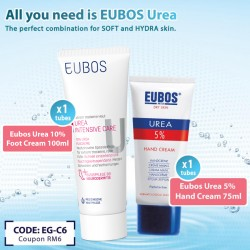 EUBOS UREA HAND + UREA FOOT CREAM  (BUY 2 Sets Coupon Code EG-C6)