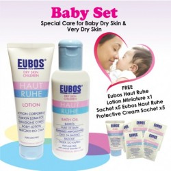 EUBOS BABY BATH OIL & LOTION (Baby Set)