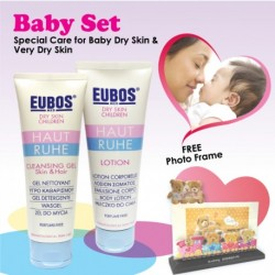 EUBOS HAUT RUHE CLEANSING GEL SKIN & HAIR & LOTION Gift Set