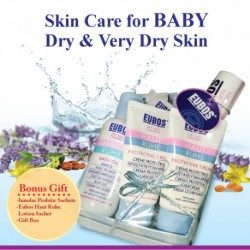 EUBOS HR BATH OIL & HR PROTECTIVE CR - GIFT SET