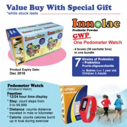 INNOLAC PROBIOTIC 4 BOXES GWP PEDOMETER WATCH