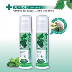 DENTISTE' Plus White Nighttime Toothpaste with pump dispenser _120g x2 bottles