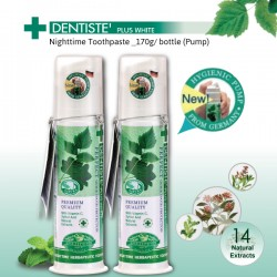 DENTISTE' Plus White Nighttime Toothpaste with pump dispenser_170g x 2 bottles