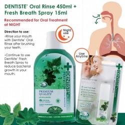 DENTISTE' Oral Rinse_450ml and Fresh Breath Spray 15ml - Oral Hygiene care