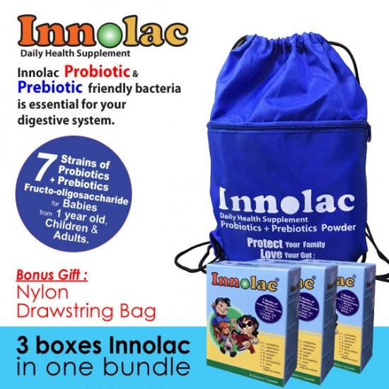 Innolac Probiotics Supplement (3 boxes in 1 bundle + Free Bag)