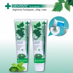 DENTISTE' Plus White Nighttime Toothpaste Tube_100g  (x2 tubes)