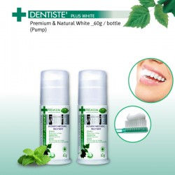 Dentiste' Premium and Natural White Toothpaste with pump dispenser  _60g  (x2 bottles)