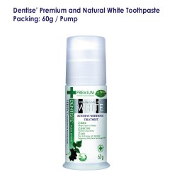 Dentise' Premium and Natural White Toothpaste Pump_60G