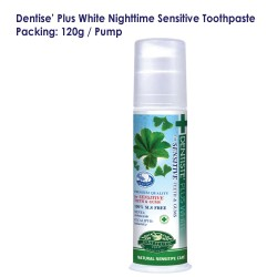Dentise' Plus White Nighttime Sensitive Toothpaste Pump_120G
