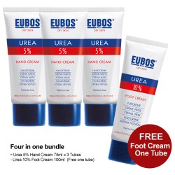 Promotion Urea Hand Cream Buy 3 Free 1 Foot Cr (Promo Pack)